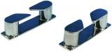 Lipp Klampe aus polierten rostfreien Stahl Länge 115 links