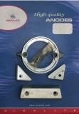 Set 4 Stk - VOLVO 290 DUO PROP Aluminium