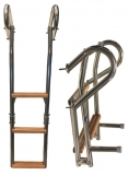 NIRO Badeleiter mit 3 Holzstufen BBN42