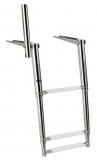 Ausziehbare Leitern für Badeplattform mit Haltegriff 3 Stufen BBN04