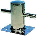 Poller Niro Stahl Höhe 145 mm Montage über Fußplatte 120 x 145 mm