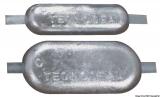 Rechteckige Anoden Zink 200x100x20mm 2,90kg Zink