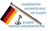 Fahnenstock Länge 600mm 22mm Durchmesser mit Halter 45° und Flagge