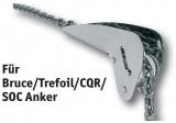 NIRO Ankerrollen geeignet für Bruce Trefoil CQR  SOC Anker Typen Größe 2