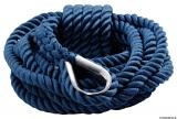 Gespleißte Festmacherleinen blau Kausche Edelstahl Leine 24mm
