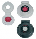 Quick Fußschalter Farbe Gehäuse schwarz Farbe Knopf rot