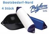 4 x Polyform Fender Typ F8 blau