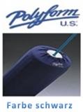 2 x Polyform Fenderschutz schwarz Polyester für Fendergröße F3 sehr weich