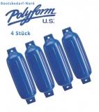 4 x Polyform Fender Typ G 5 blau