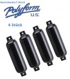 4 x Polyform Fender Typ G 6 schwarz