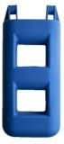 Treppenfender 2-Stufen: 25 x 12 x 55 cm - 3,0 kg Farbe: blau