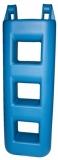Treppenfender 3-Stufen: 25 x 12 x 75 cm - 4,0 kg blau