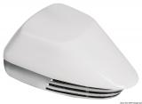 Membran-Bootshupe aus verchromtem ABS Farbe weiß + verchromt