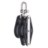 Sprenger - 14mm Gleitlagerblock mit 2 Rollen, Wirbel und Hundsfott