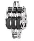 Sprenger 6mm Gleitlagerblock mit 3 Rollen, Bügel und mittlerem Hundsfott