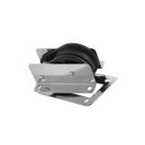Einlassblock 1 Rolle Kunststoff Edelstahl rostfei Rolle 50 x 14mm