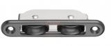 Einlassblock 2 Rollen Rolle Kunststoff 27 x 11mm für 8mm Tau