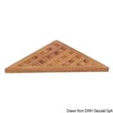 Dreieckiges Gitterrost für Duschen Seite aus Teakholz 250x250x17mm