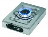 1-flammiger Gaskocher aus Niro im Aufbaugehäuse