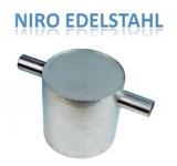 Wassersammler NIRO Edelstahl 304 vertikale für 75mm Schlauch