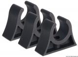 Clips für Rohre, Riemen, Ruderarme, Bootshaken usw. Farbe schwarz 18mm