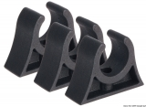 Clips für Rohre, Riemen, Ruderarme, Bootshaken usw. Farbe schwarz 20mm