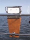 Halterung für Außenbordmotoren zur Montage am Heckkorb
