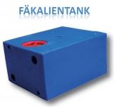 Fäkalientank aus Kunststoff 47 Liter rechteckig Seite