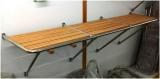 Badeplattform Plattform Teakholz NIRO 1260 x 550mm BBN23