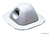 Leinendurchführung Farbe grau 7035 Maße 96 x 96mm Aufnahme-Ø 18mm