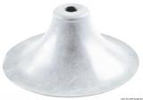 Halter Farbe grau für Sonnensegelstütze od. Flaggenstock Ø 77 x 40mm