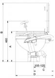 Die Johnson Pump - AquaT  - Marine Toiletten Die Pumpe ist für die Handbedienung Großes Becken