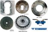 Sae-1 Flansch mit 11 1/2 Rubber Block Drive (D = 352mm, Lochkreis 332mm) für Technodrive Getriebe TM200B