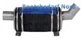 Schalldämpfer Wassersammler Niro 4 Liter 200 x 160mm Anschluß 45mm 45° Eingang und gerader Ausgang