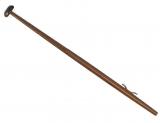 L= 1250 mm Flaggenstock Lackiertes Holz, Ø22 mm, mit Kunststoffklampe
