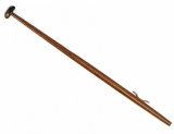 L= 800 mm Flaggenstock Lackiertes Holz, Ø22 mm, mit Kunststoffklampe