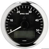 Drehzahlmesser VDO ViewLine mit Gesamt- und Teilanzeige Uhr Voltmeter 5000 U/min schwarz