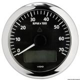 Drehzahlmesser VDO ViewLine mit Gesamt- und Teilanzeige Uhr Voltmeter 7000 U/min schwarz