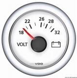 Voltmeter 8/16V VDO ViewLine Farbe weiß