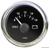 Voltmeter 8/16V VDO ViewLine Farbe schwarz