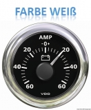 Amperemeter -60A + 60A VDO ViewLine Farbe weiß