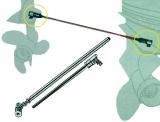 Kupplungsstange um den Hauptmotor mit einem Hilfsmotor zu verbinden.