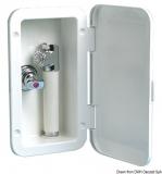 Einbaubox mit Mischbatterie für herausnehmbare Brausearmatur mit Druckschalter Schlauch 4,0m