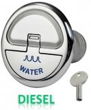 Einfüllstutzen Quick Lock Diesel gerade 50mm mit Schlüssel