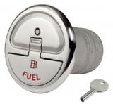 Einfüllstutzen Quick Lock Fuel gerade 38mm mit Schlüssel
