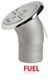 Einfüllstutzen Quick Lock Fuel abgewinkelt 30 Grad 50mm