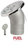 Einfüllstutzen Quick Lock Fuel abgewinkelt 30 Grad 50mm mit Schlüssel
