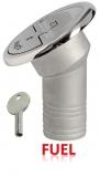 Einfüllstutzen Quick Lock Fuel abgewinkelt 30 Grad 38mm mit Schlüssel