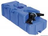 Schmutzwassertank mit integrierter Fäkalienabsaugpumpe von WHALE 110 Liter 24V Bauform schräg