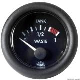 Füllstandanzeiger für Nutz- und Schmutzwassertanks Farbe schwarz 24Volt
